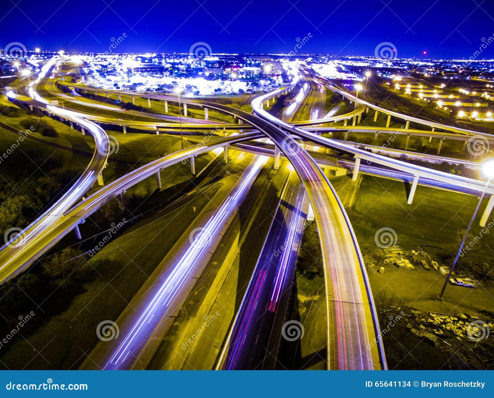 Velocità di scambio Austin Traffic Transportation Highway dei cicli delle strade principali della luce