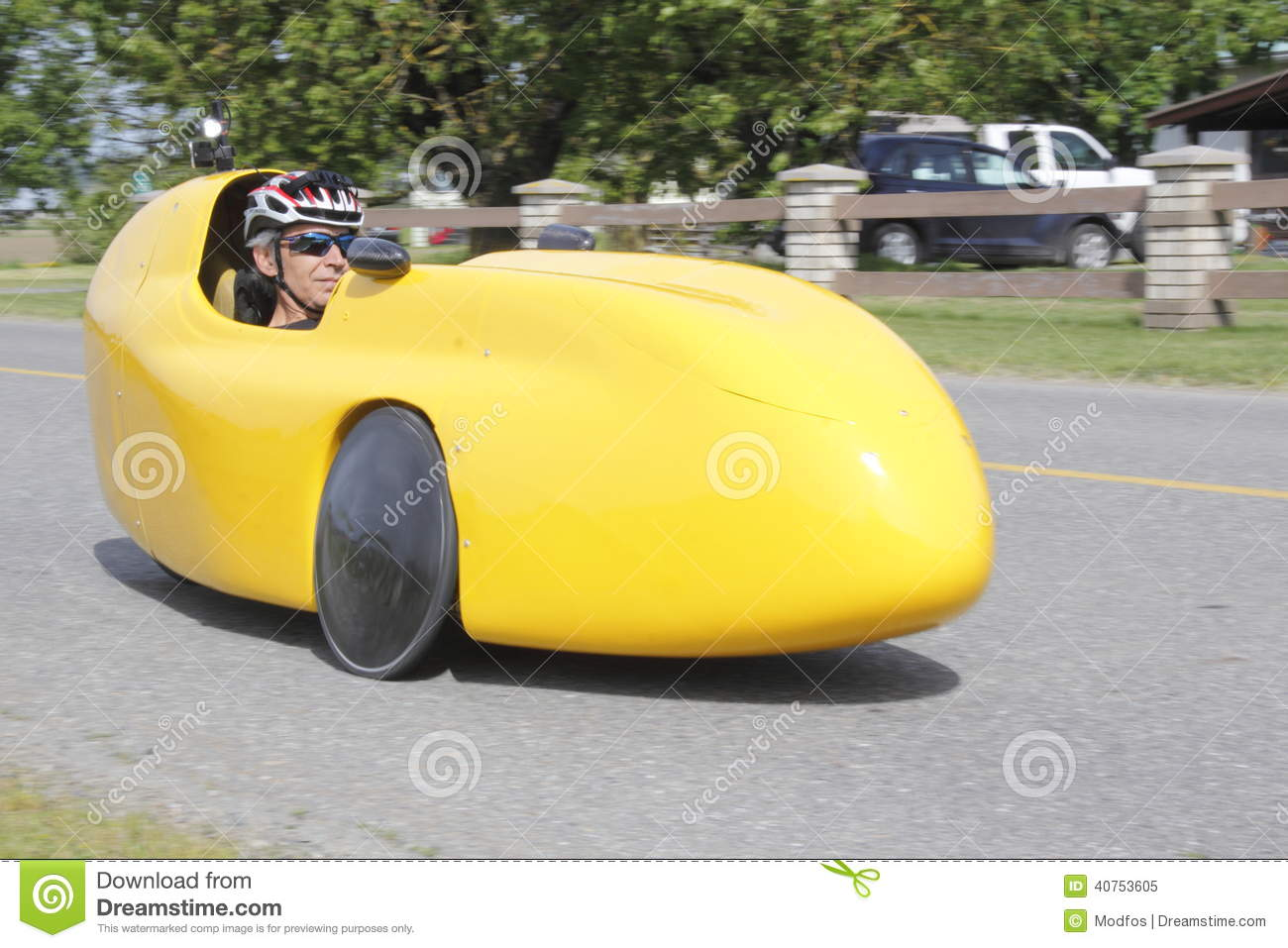 Velomobile bicycle car or recumbent bike stock image for Is a bicycle considered a motor vehicle