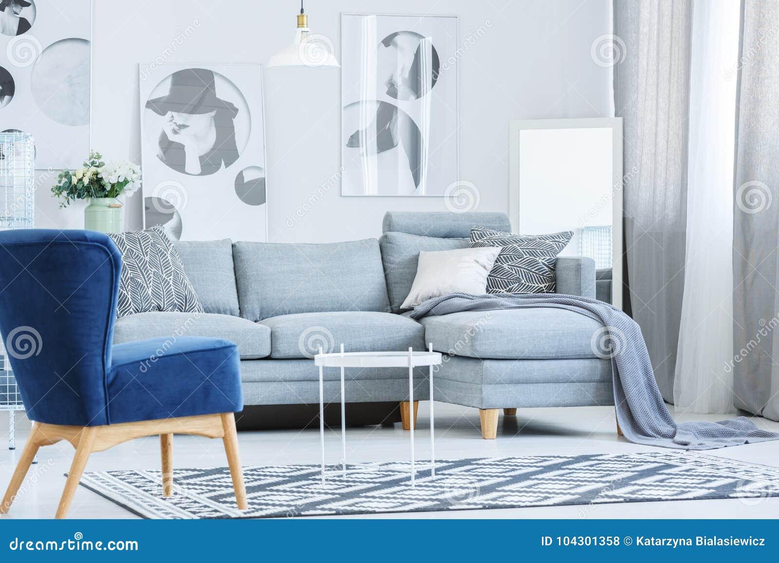Stupendous Velvet Armchair In Gray Room Stock Photo Image Of Fashion Dailytribune Chair Design For Home Dailytribuneorg