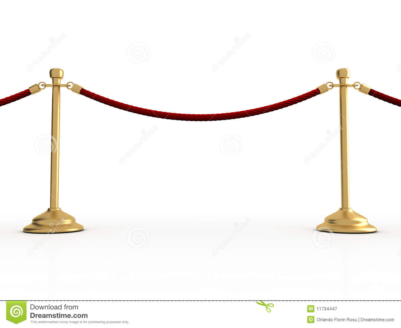 Velvet Rope Barier Stock Illustration Image Of Luxury