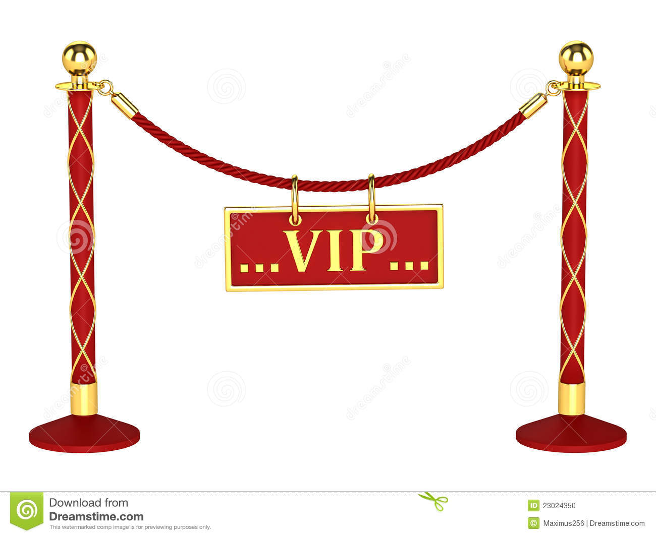 A Velvet Rope Barrier With Vip Sign Stock Photo Image