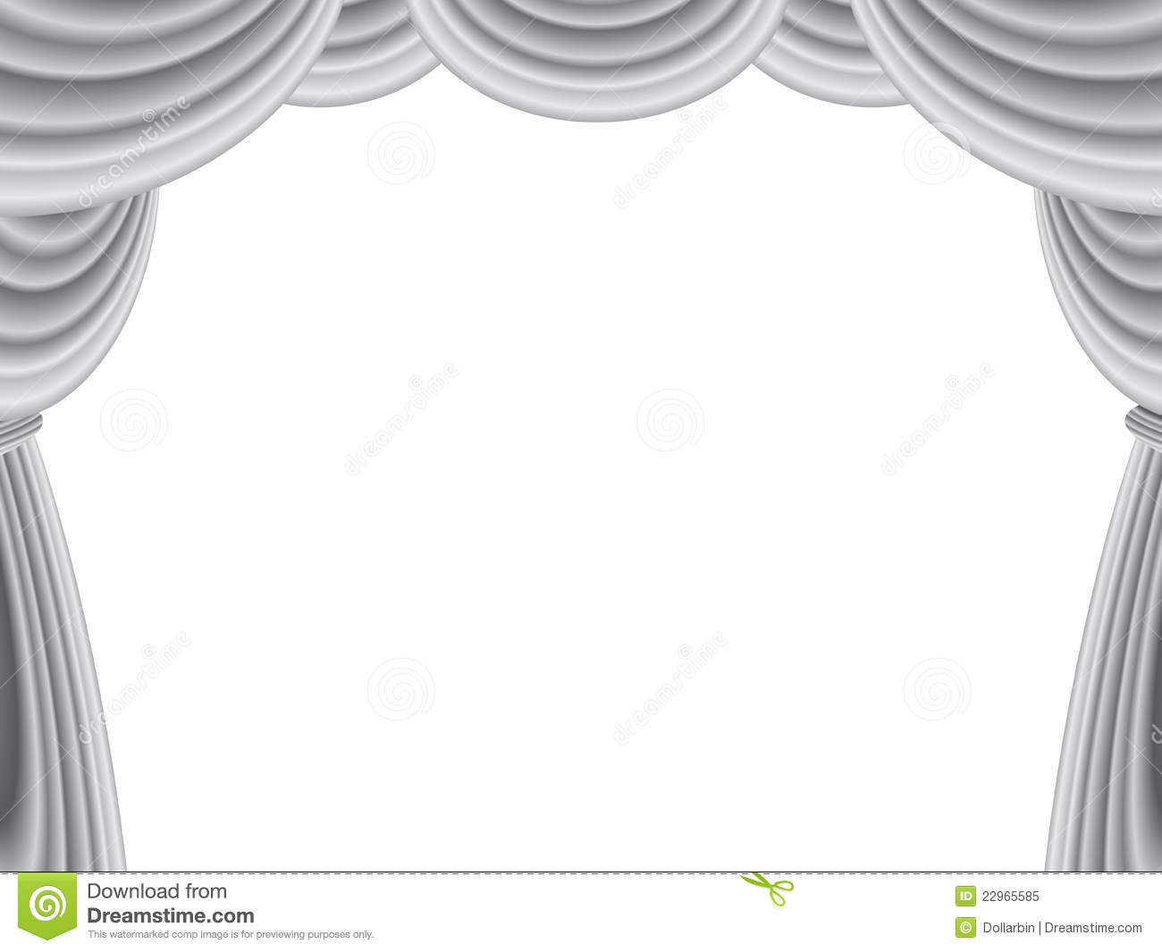 Download Velvet Stage Curtain Stock Vector Illustration Of Piece