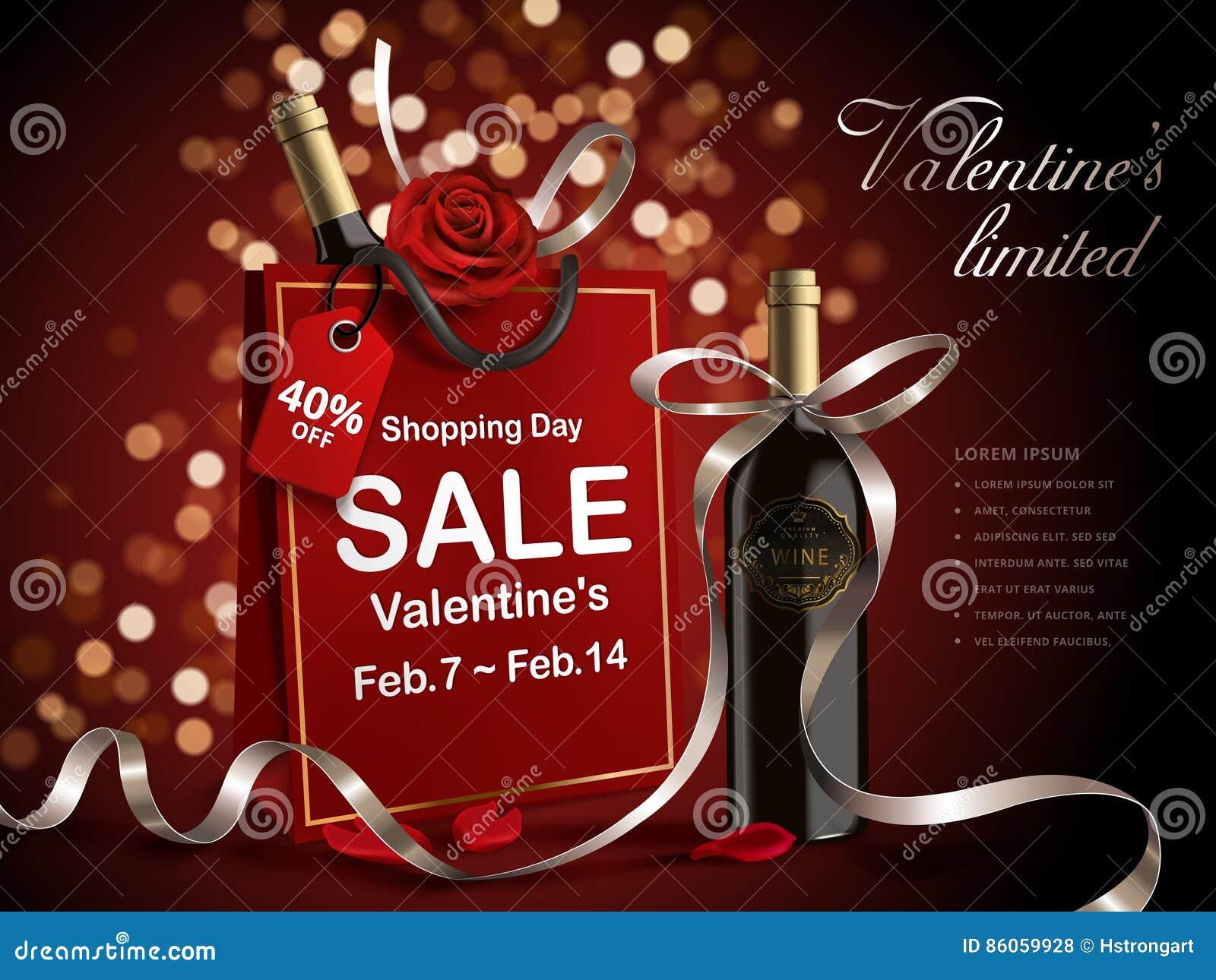 Venda do dia do ` s do Valentim