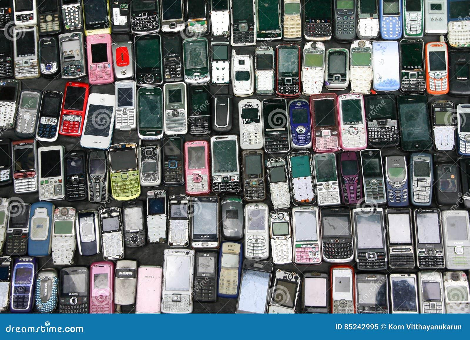 Venda do telefone celular da característica da segunda mão para a peça sobresselente