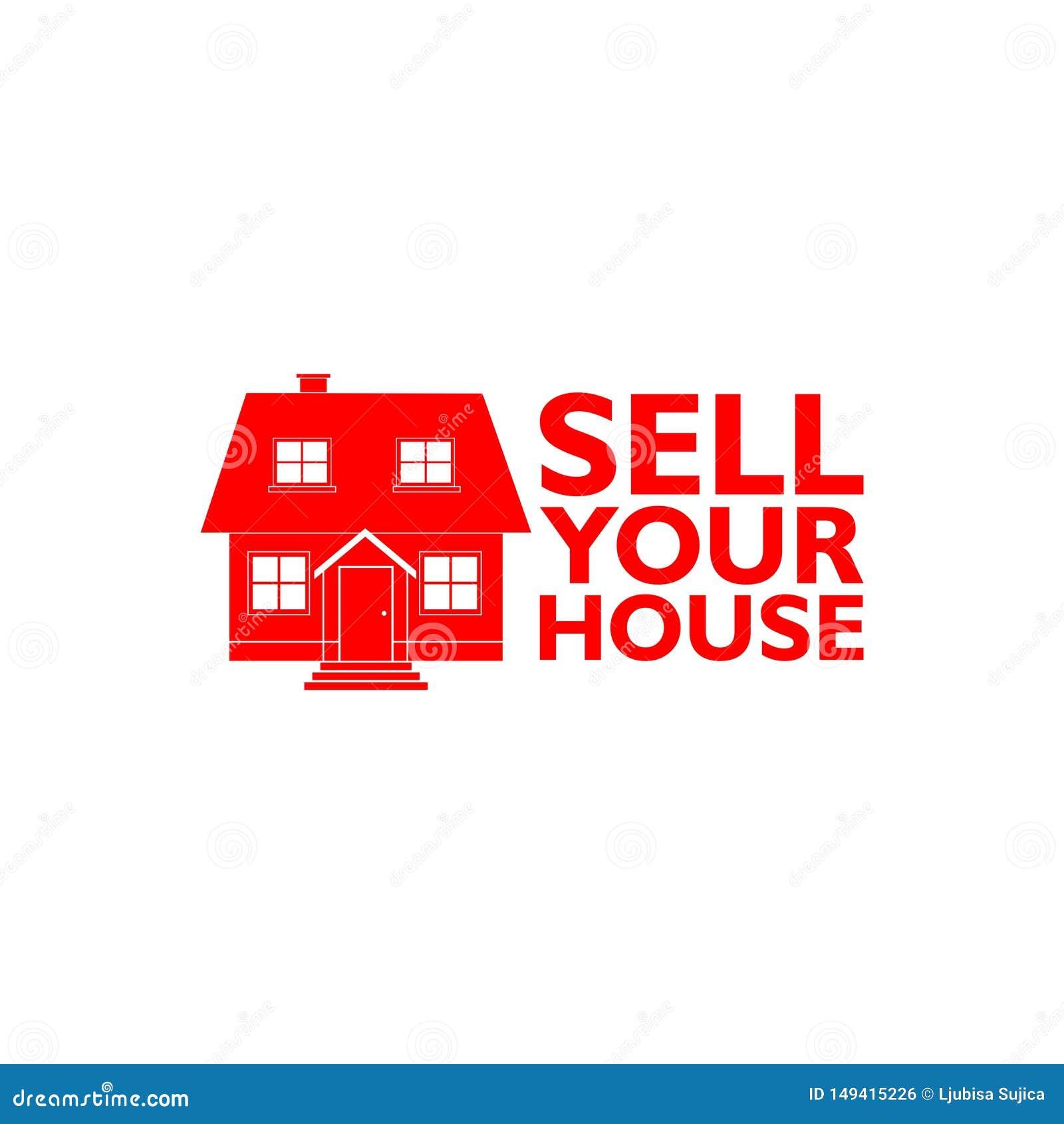 Venda su icono casero de la casa, muestra, logotipo