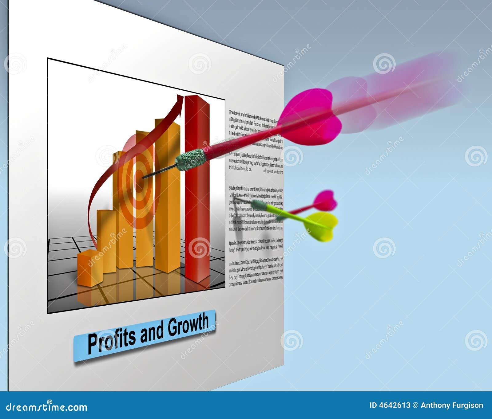 Vendas do negócio do mercado