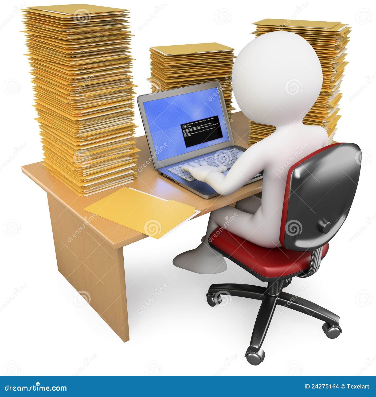 Vendedor 3d que trabaja en la oficina con mucho para hacer for Xxx porno en la oficina