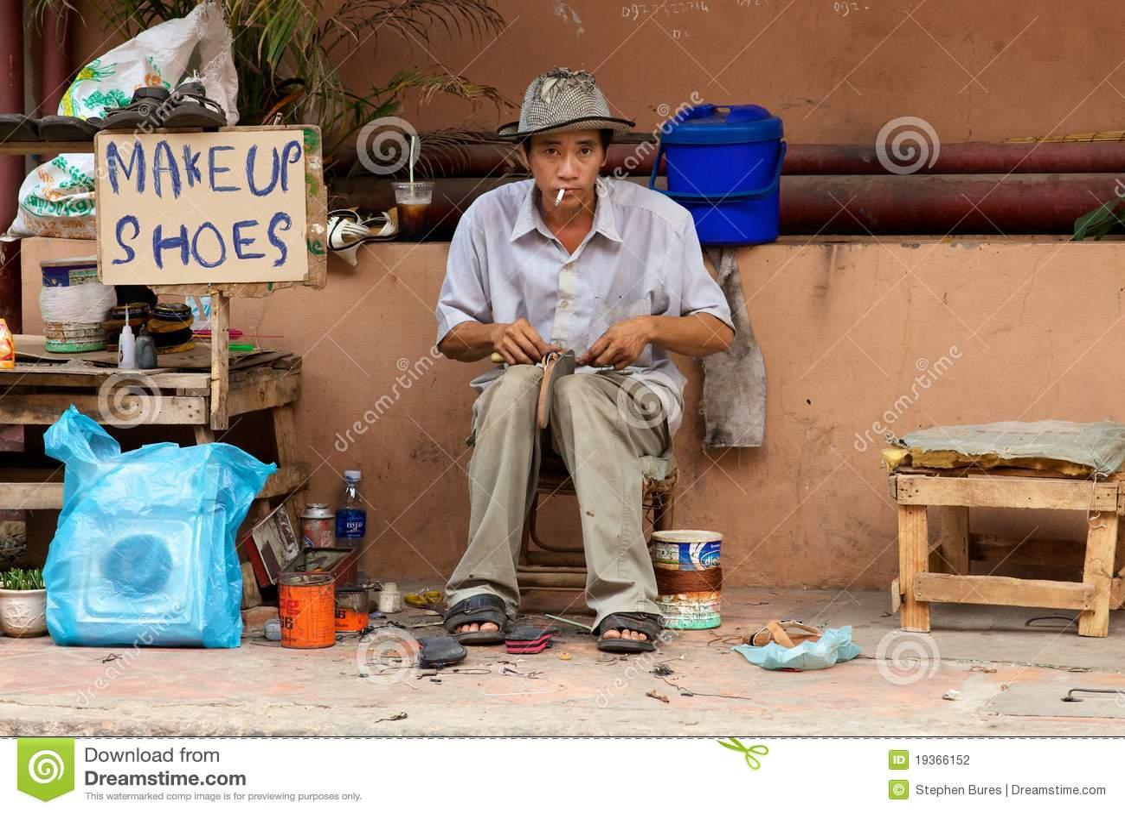 Vendedor ambulante Cambodia
