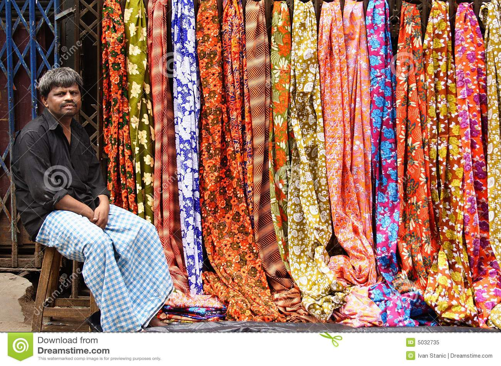 Vendedor do sari
