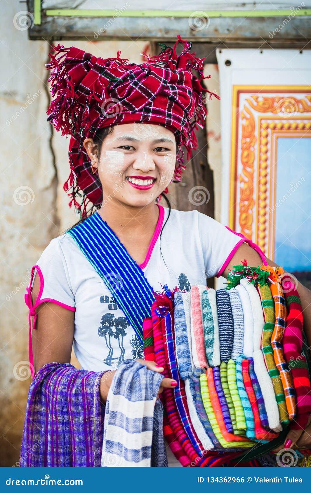 Vendedor Imagen colorida con una mujer