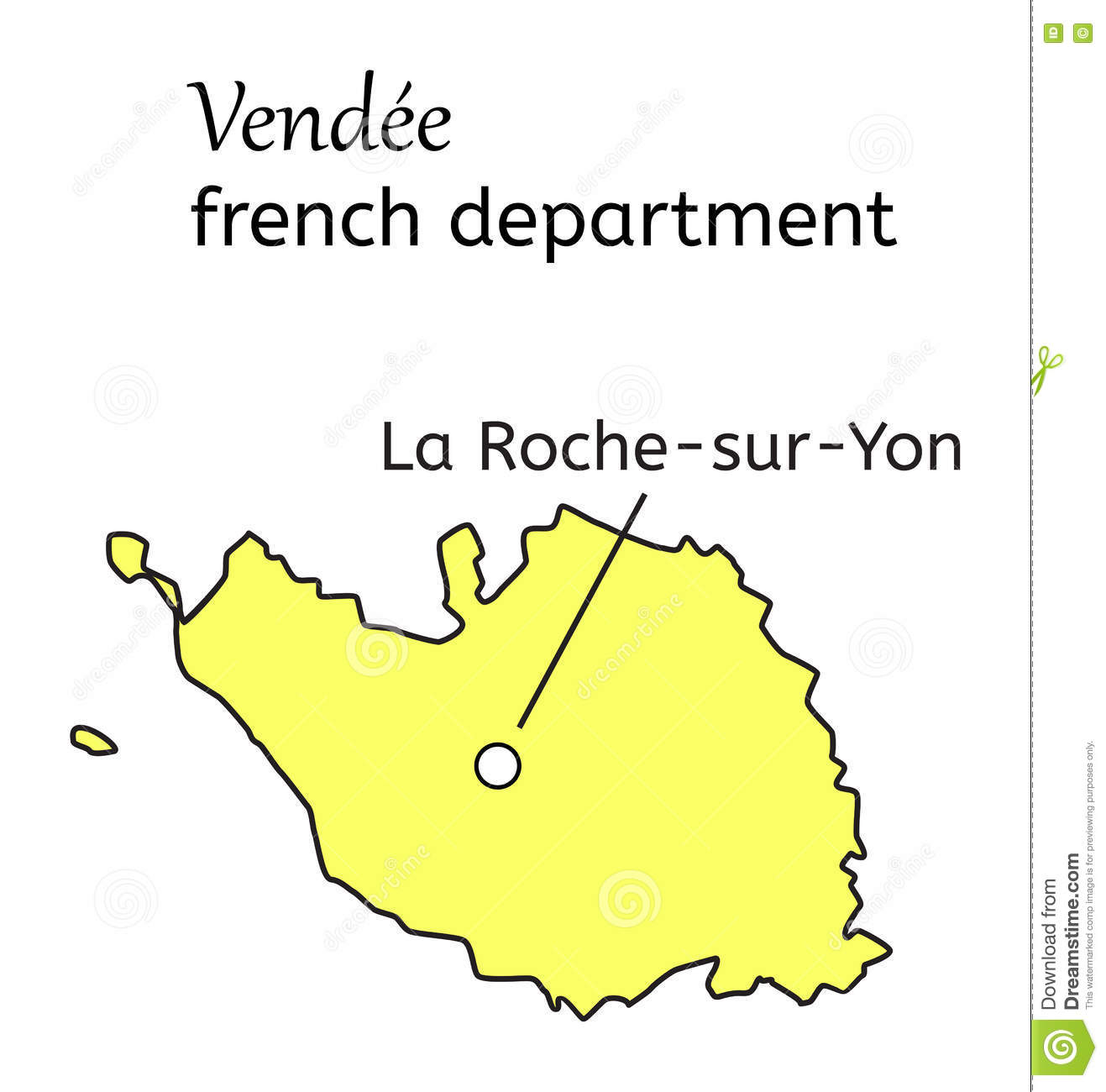 Map Of France Vendee Region.Vendee French Department Map Stock Vector Illustration Of