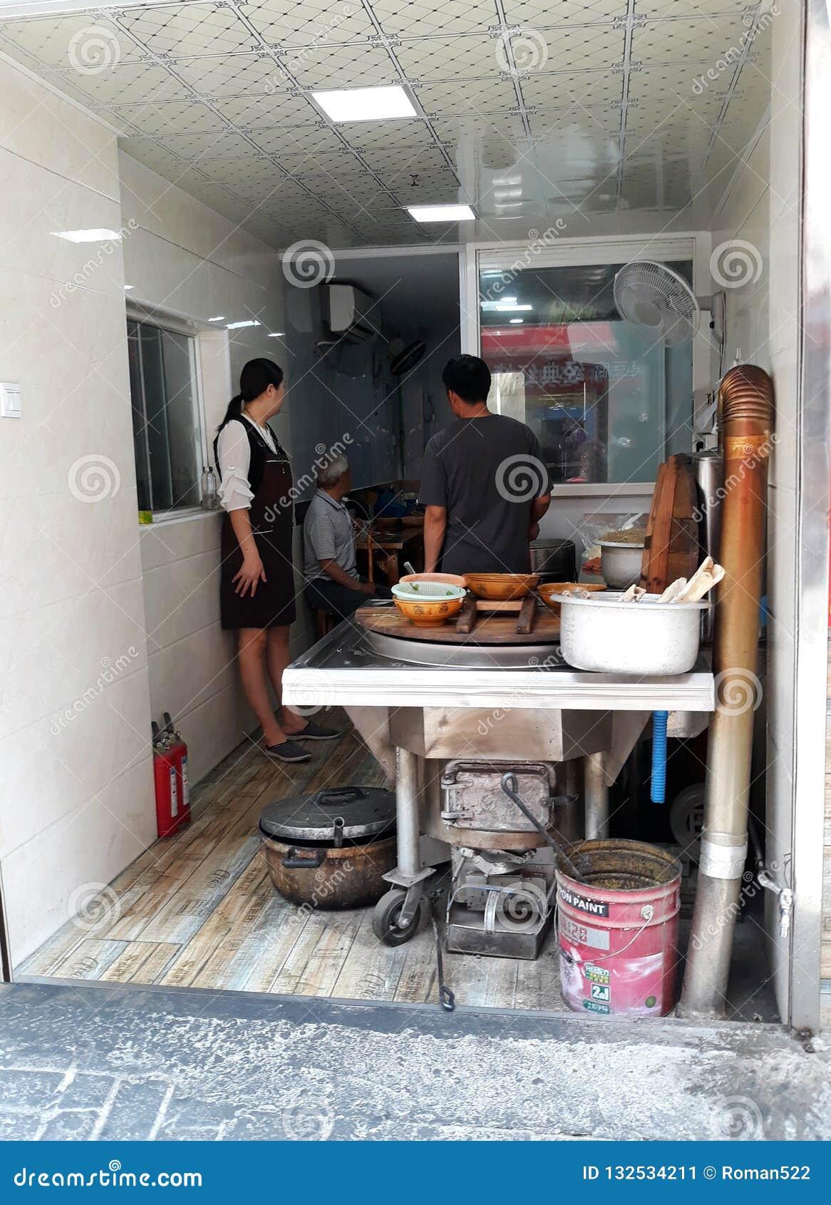 Vendendo jantares em China