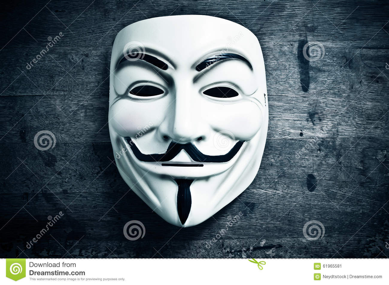 Vendetta Mask On Wooden Background Editorial Photo Image Of