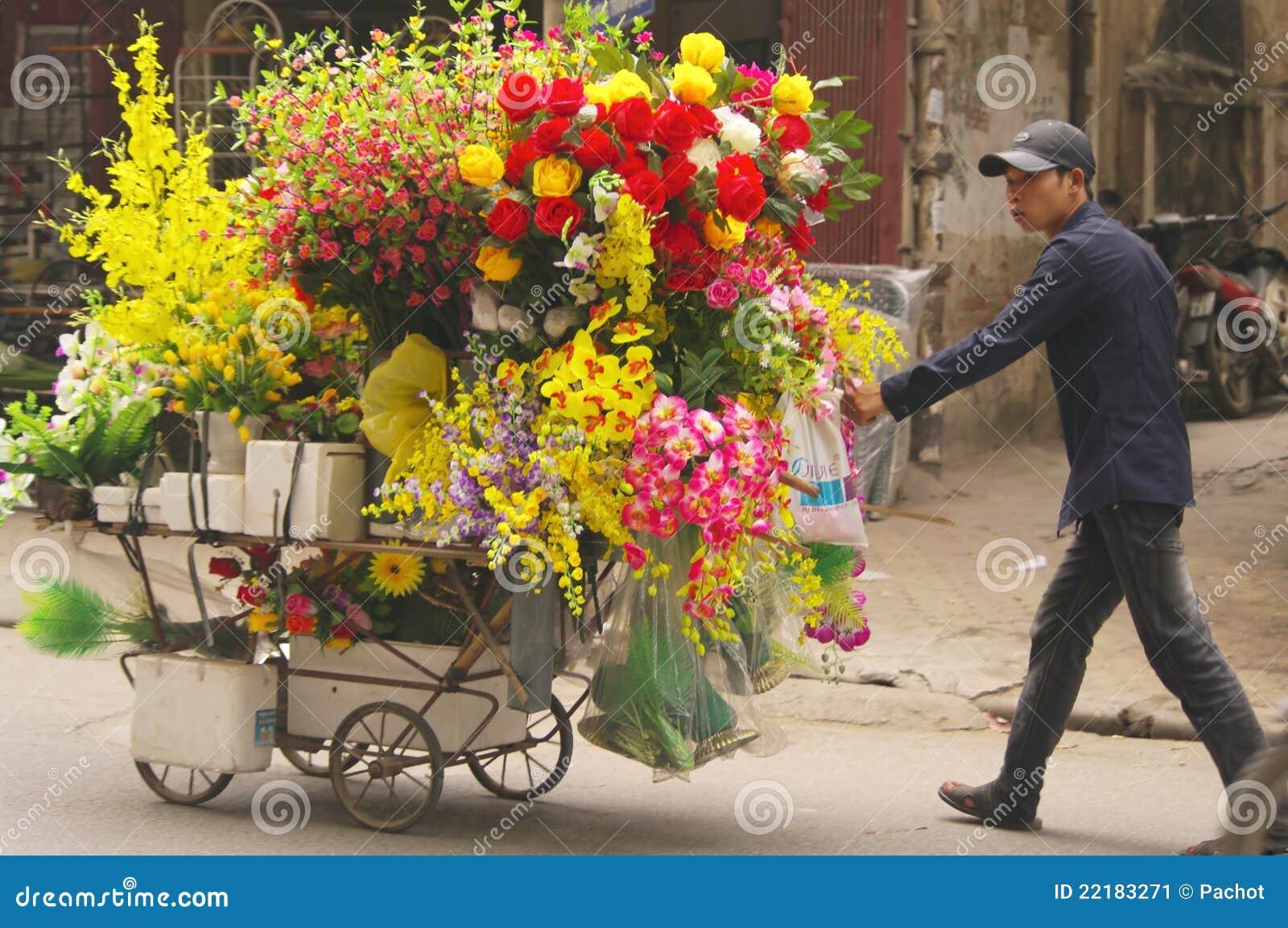 Top Vendeur Des Fleurs Artificielles Photo éditorial - Image: 22183271 GD34