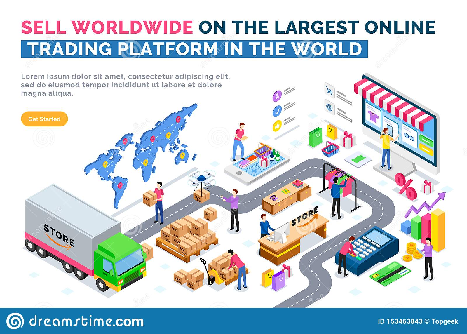 Vendi universalmente sulla più grande piattaforma commerciale online