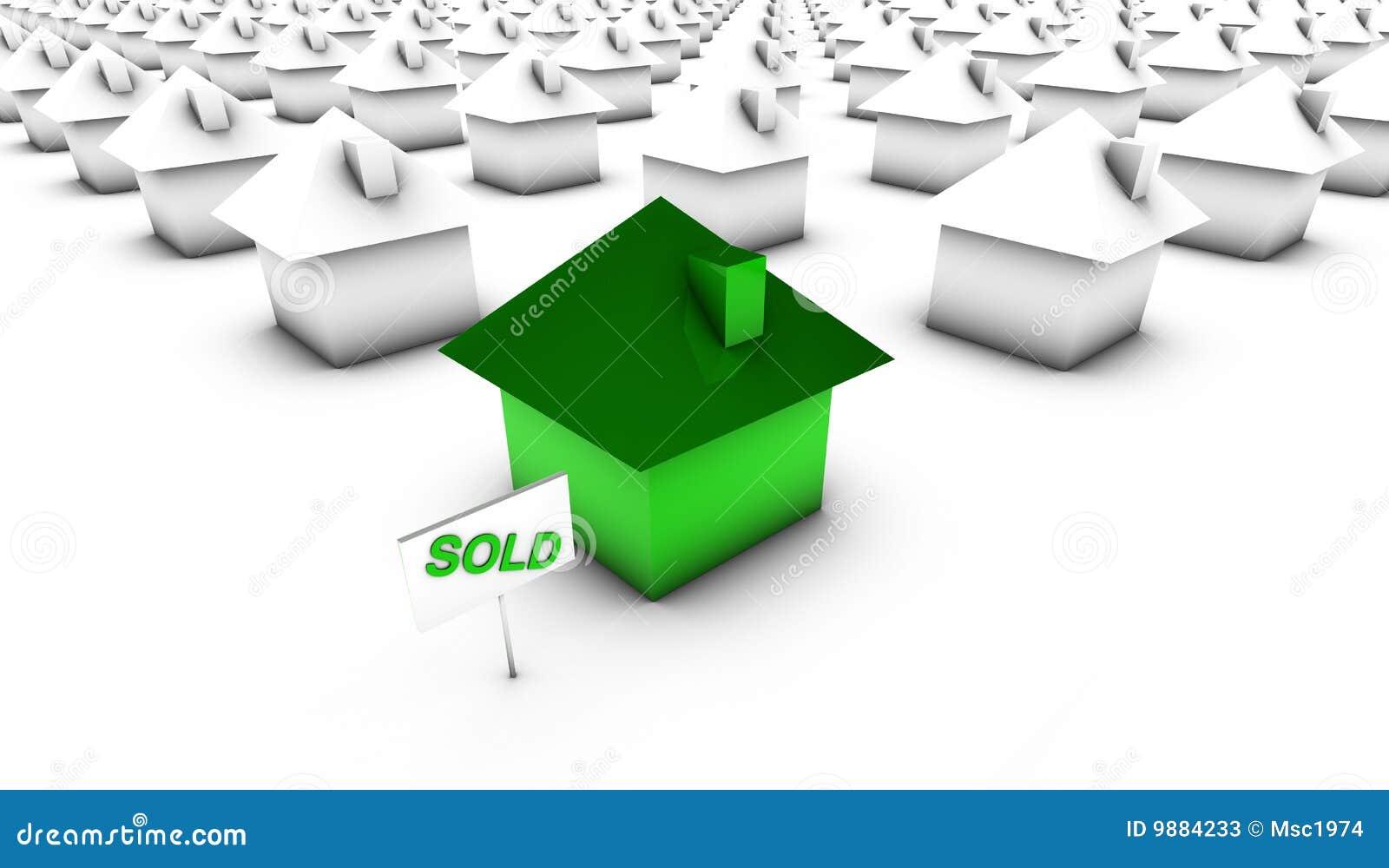 Vendido - verde con blanco