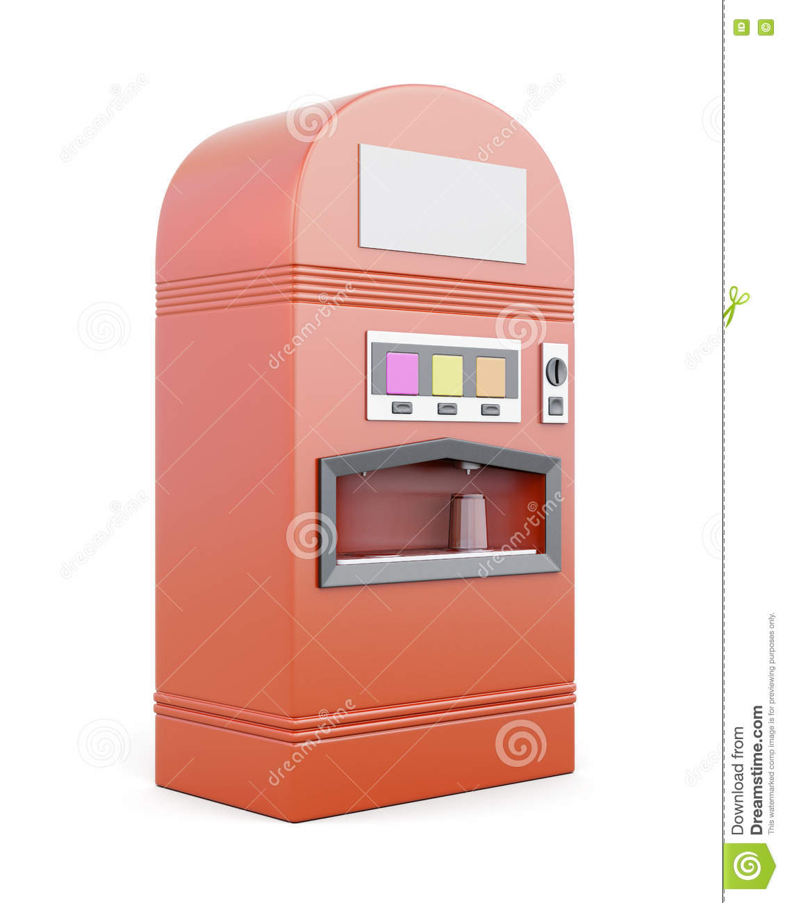 Vending Machine For Beverages On White Background. 3d R ...