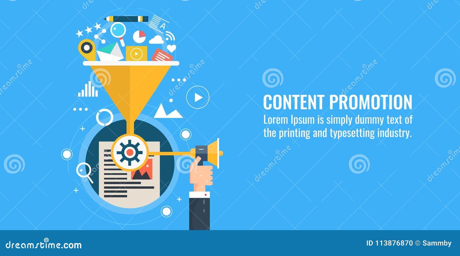 Vendita contenta, promozione, dividente, strategia, vendita digitale, concetto di pubblicità di web Insegna piana di vettore di p