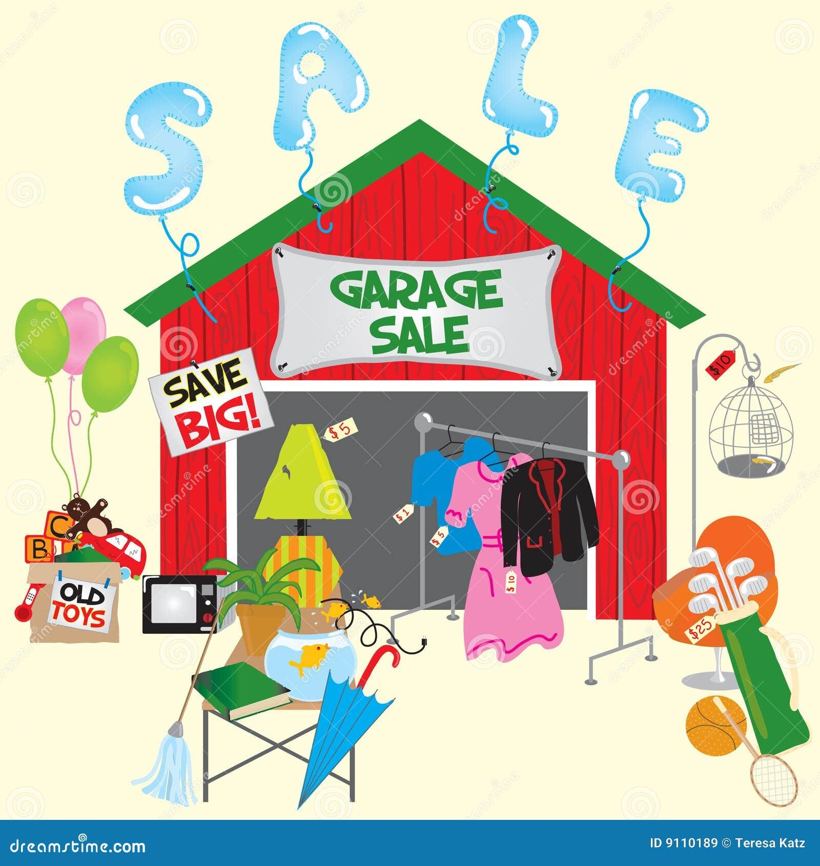 Vendita di garage immagini stock libere da diritti for Disegni di garage rv