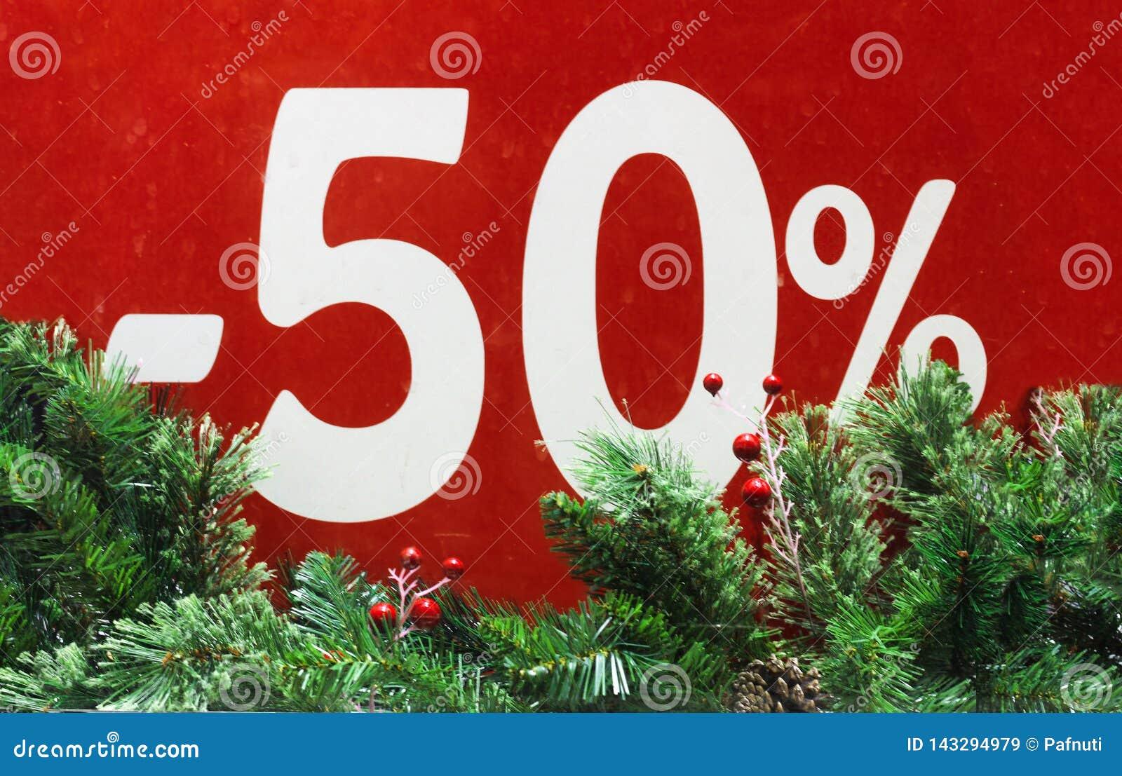Vendita di inverno 50 per cento Fondo rosso