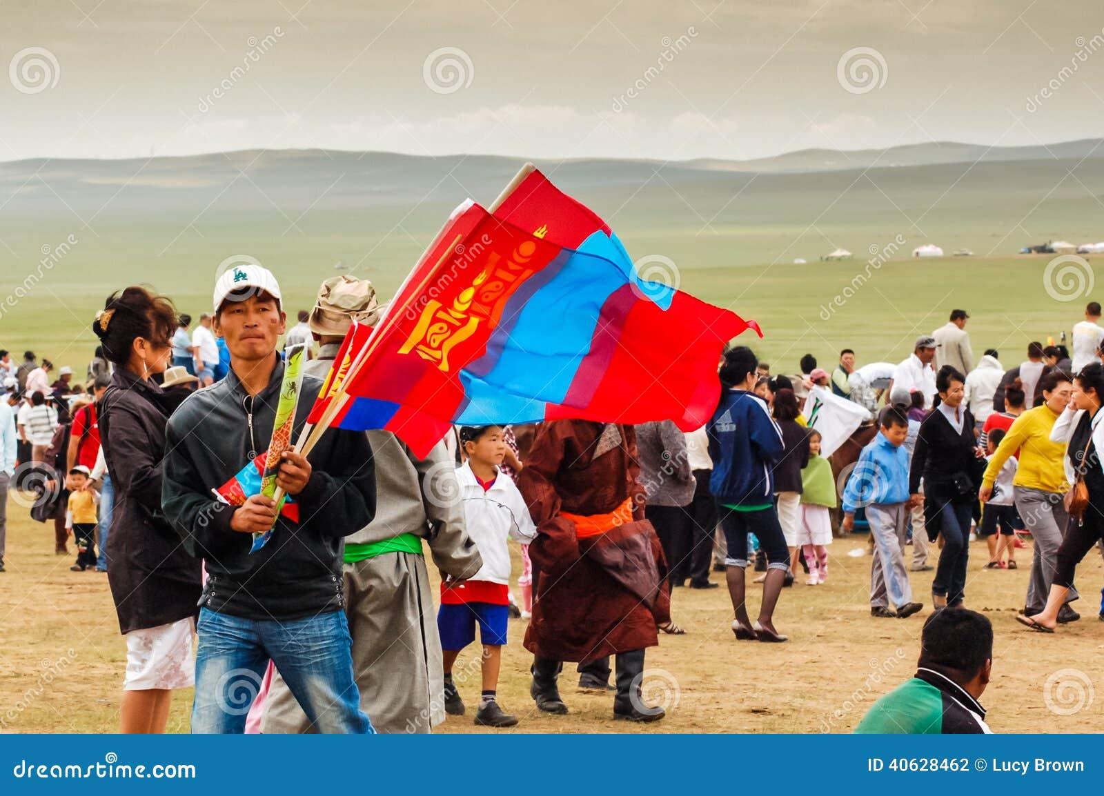 Venditore della bandiera, ippica di Nadaam
