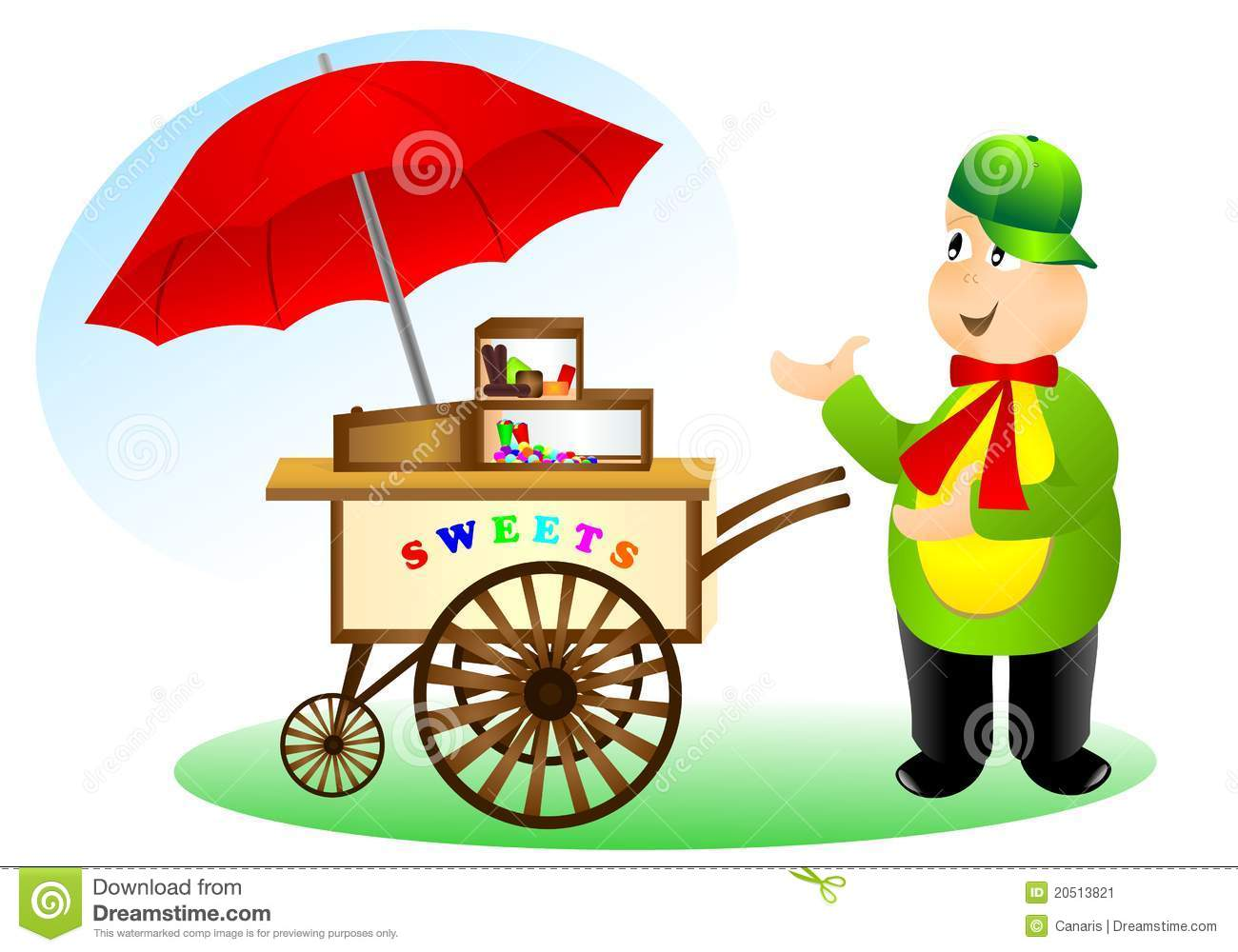 Vendor Selling Sweets, Cdr Vector Stock Vector - Image ...