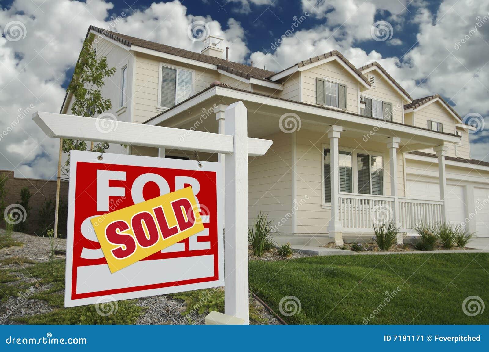 Venduto a casa per il segno e la Camera di vendita