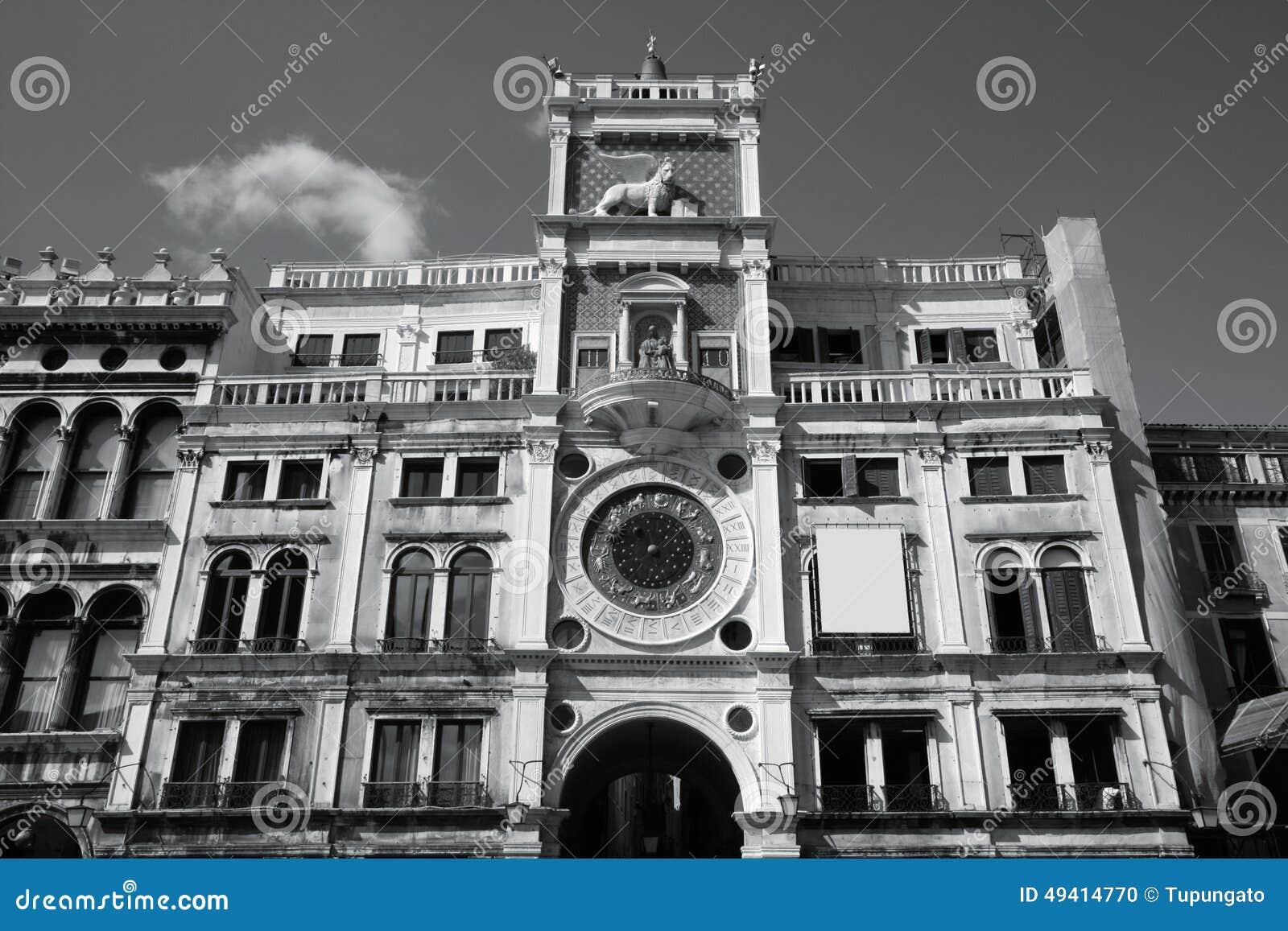 Download Venedig-astronomische Borduhr Stockfoto - Bild von quadrat, grenzstein: 49414770