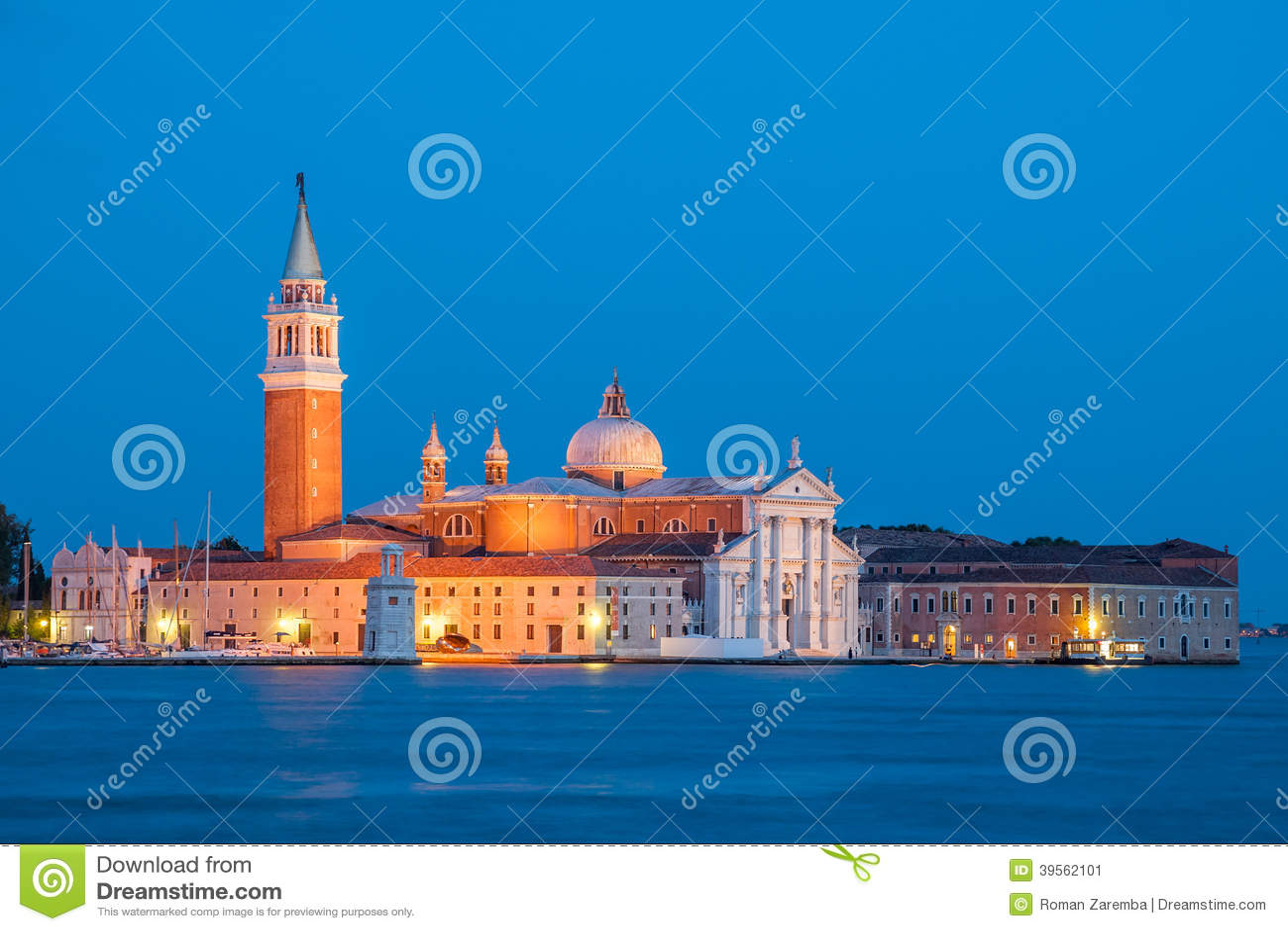 Venedig - kyrka av San Giorgio Maggiore
