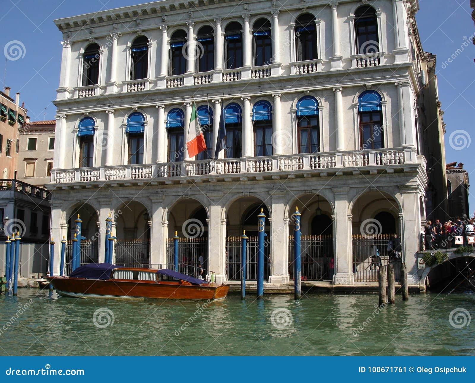 Venedig-Palast-Gondel-Karnevals-Feiertags-Kanäle