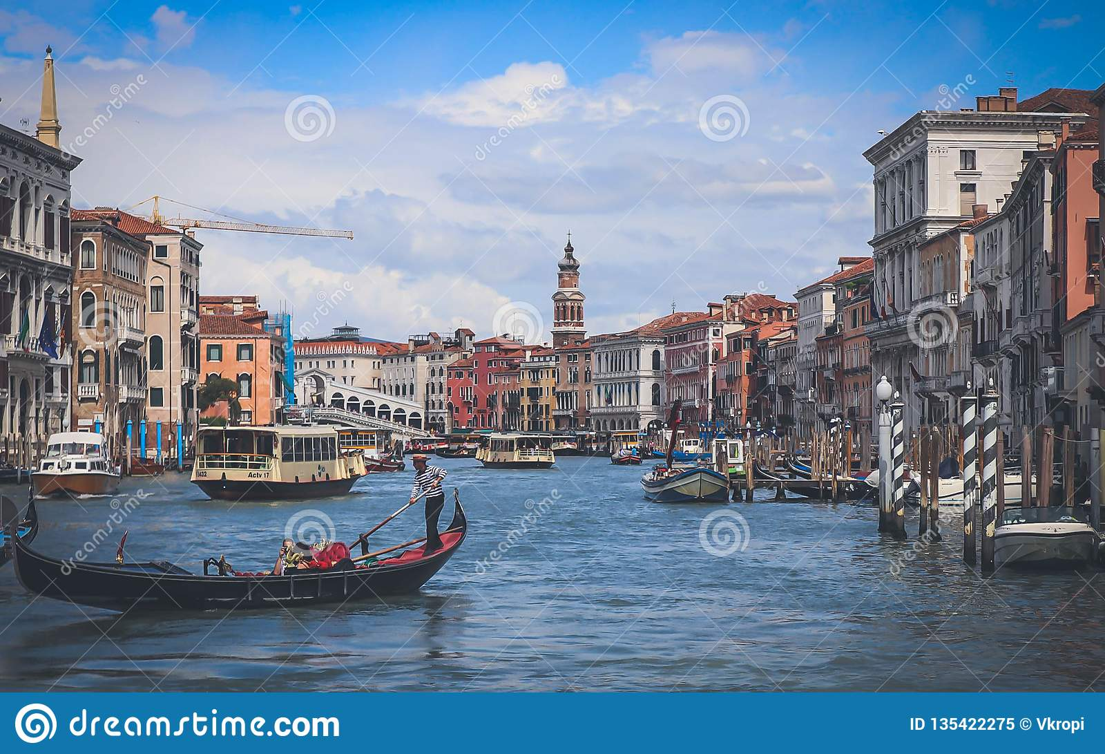 Venetië - Grand Canal Ponte Di Rialto