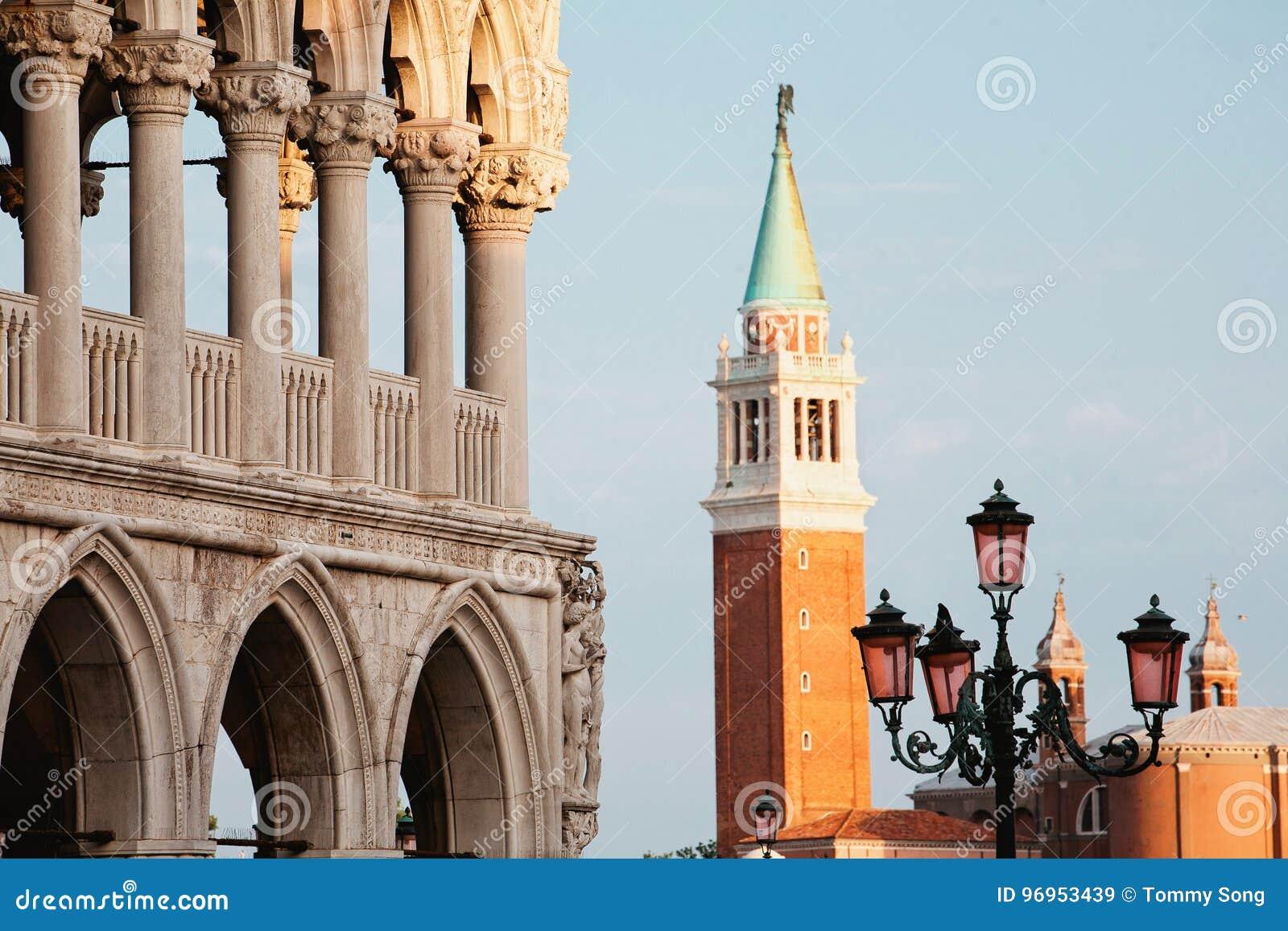 Venetië van San Marco Square in recente middag