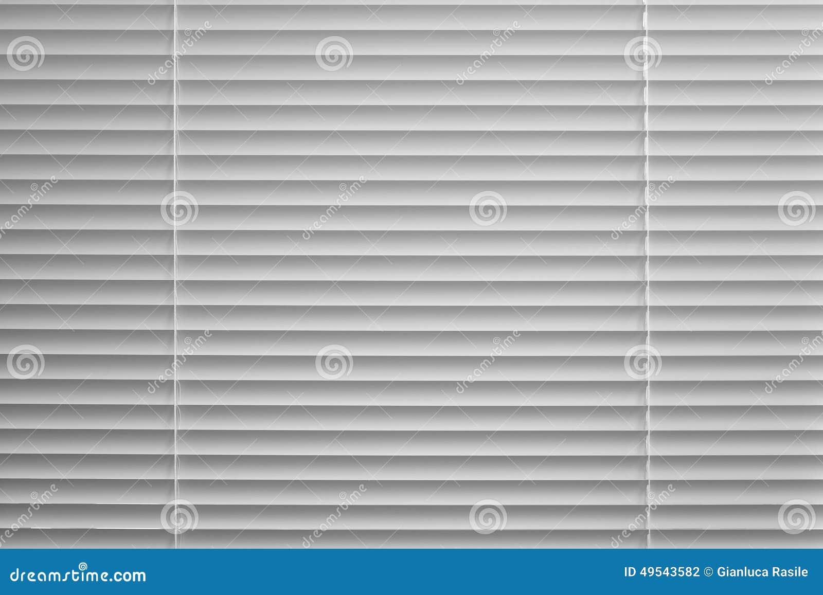 Venetian blind in black and white