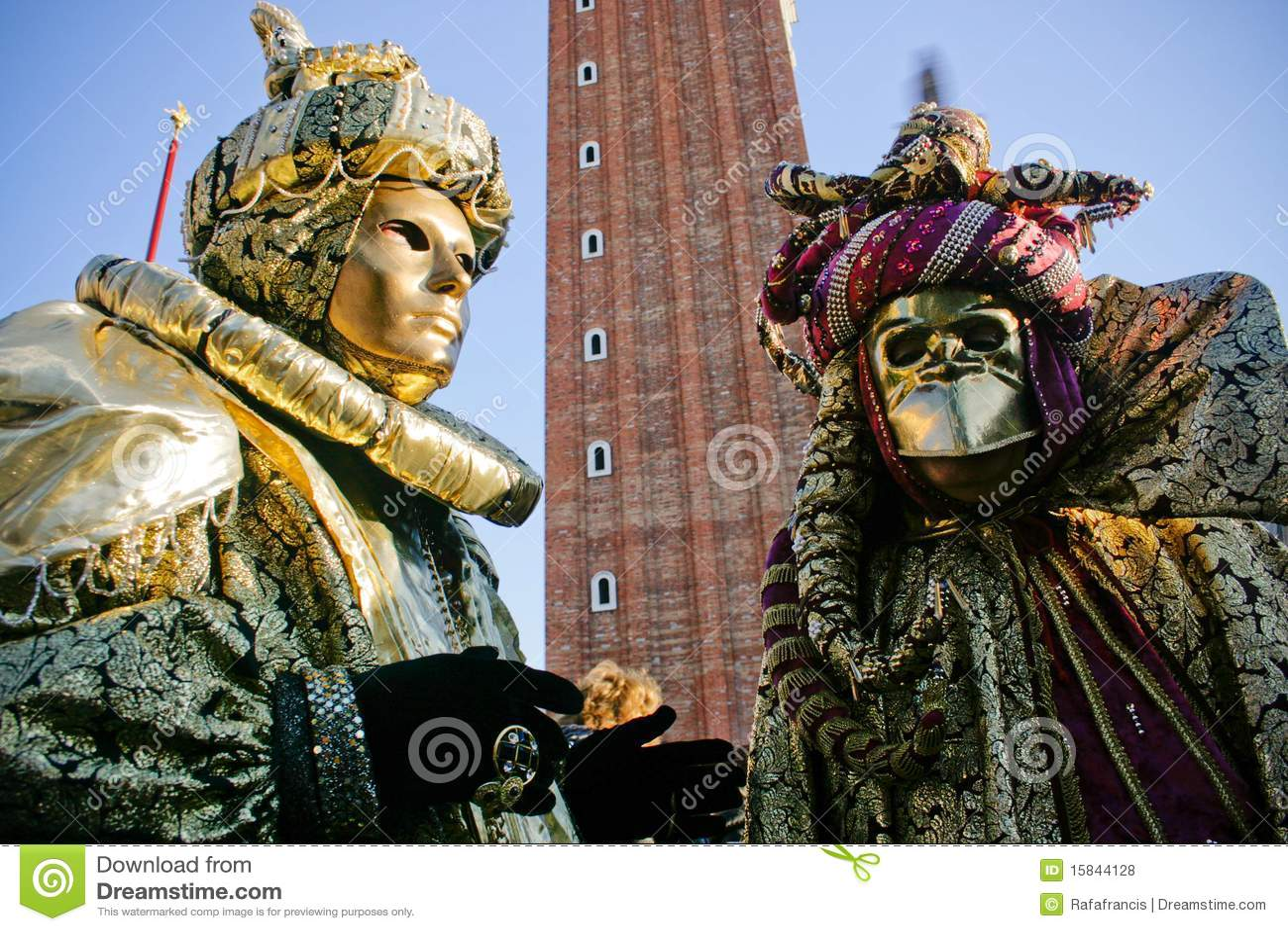 Venetian Carnival Costumes Stock Photo Image Of Angle