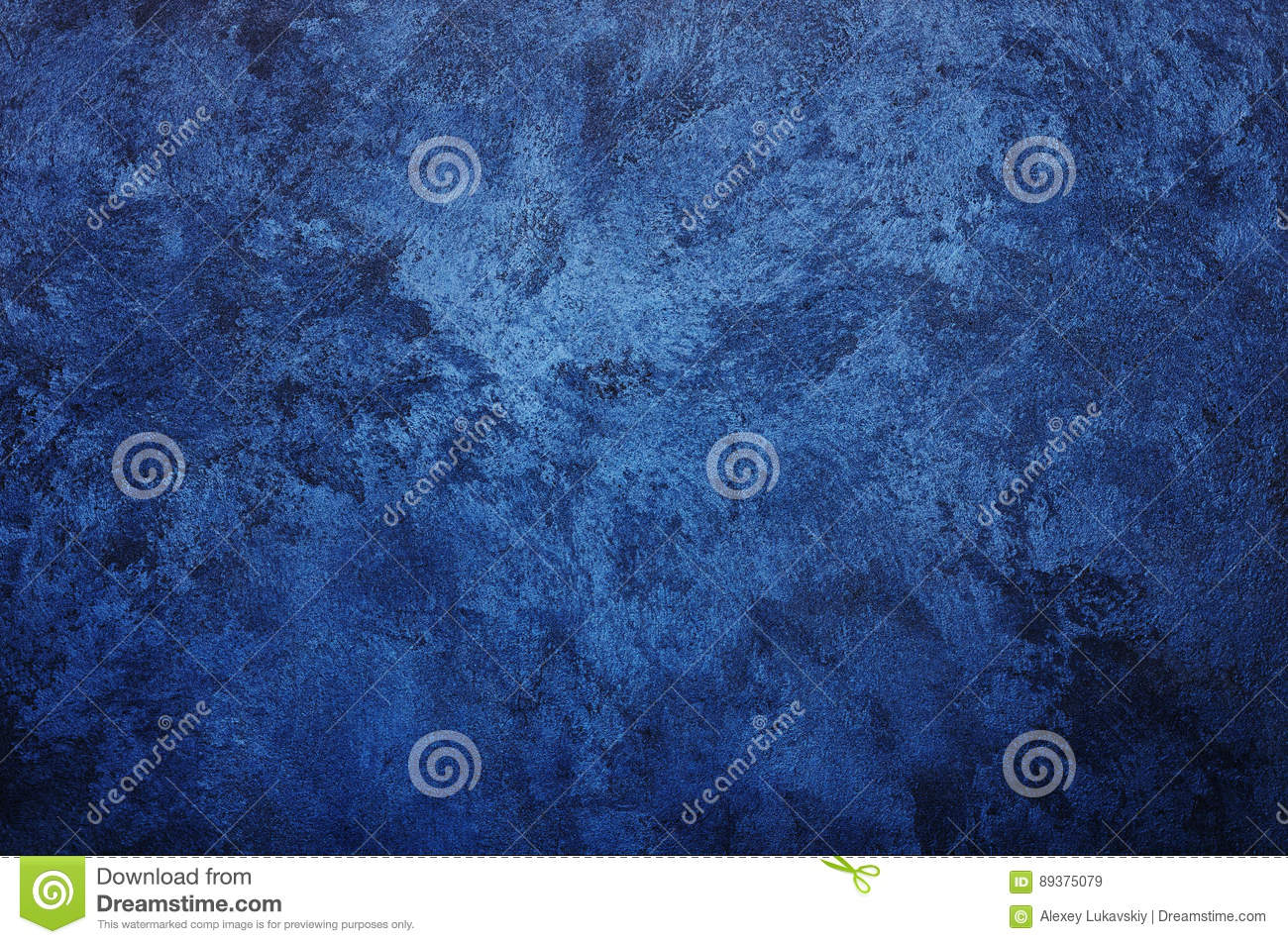 Serenity Blue Paint Venetian Decorative Plaster Royalty Free Stock Photo