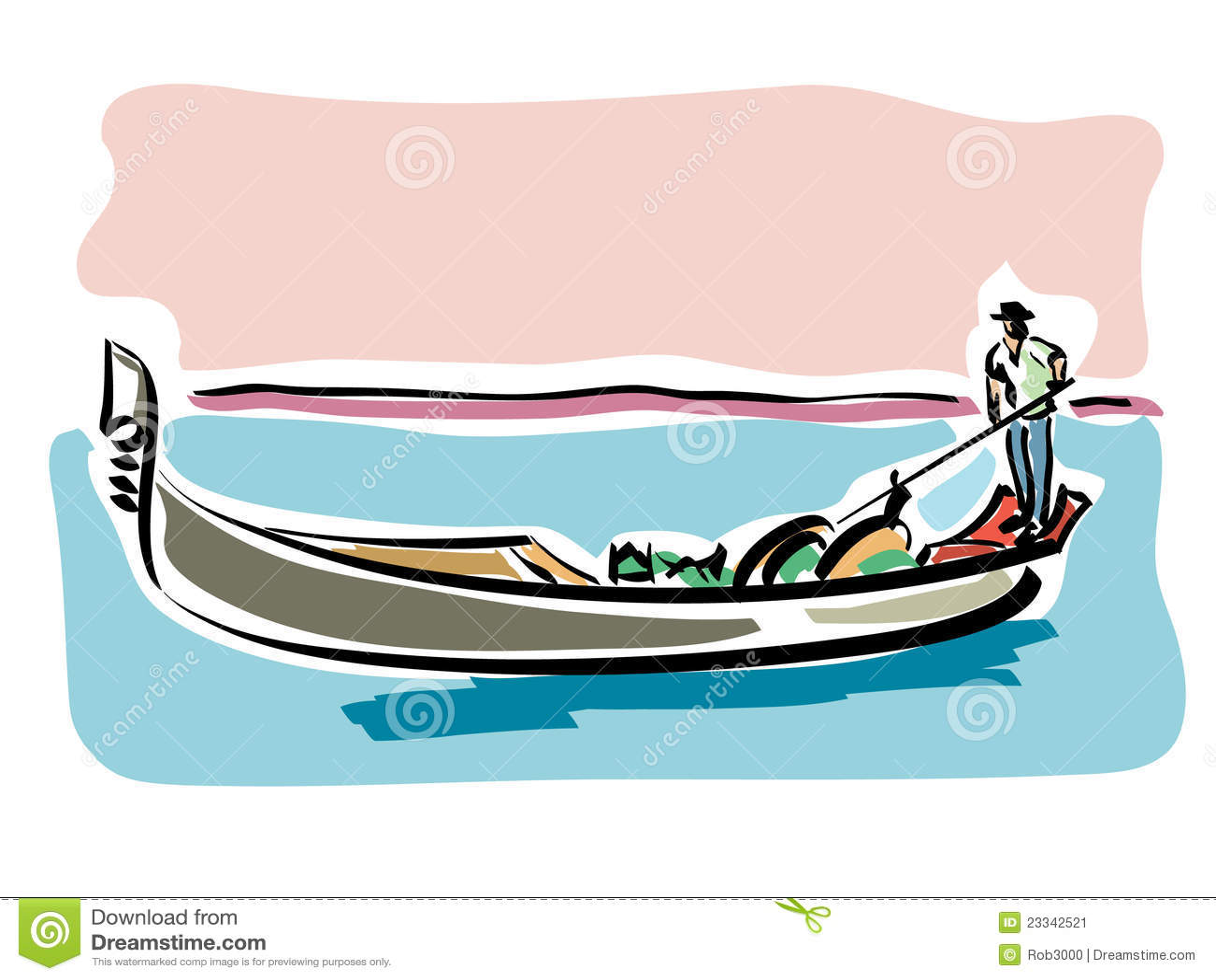 Rowing Gondola Stock Illustrations – 49 Rowing Gondola Stock ...