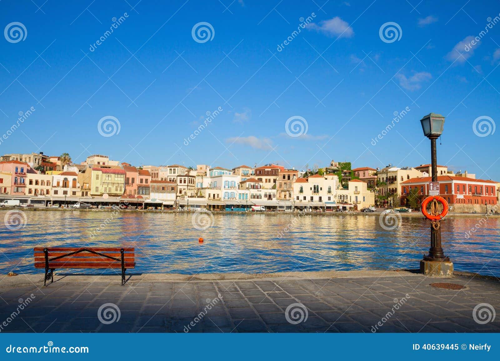 Venetian Habour Of Chania, Crete, Greece Stock Photo - Image: 40639445