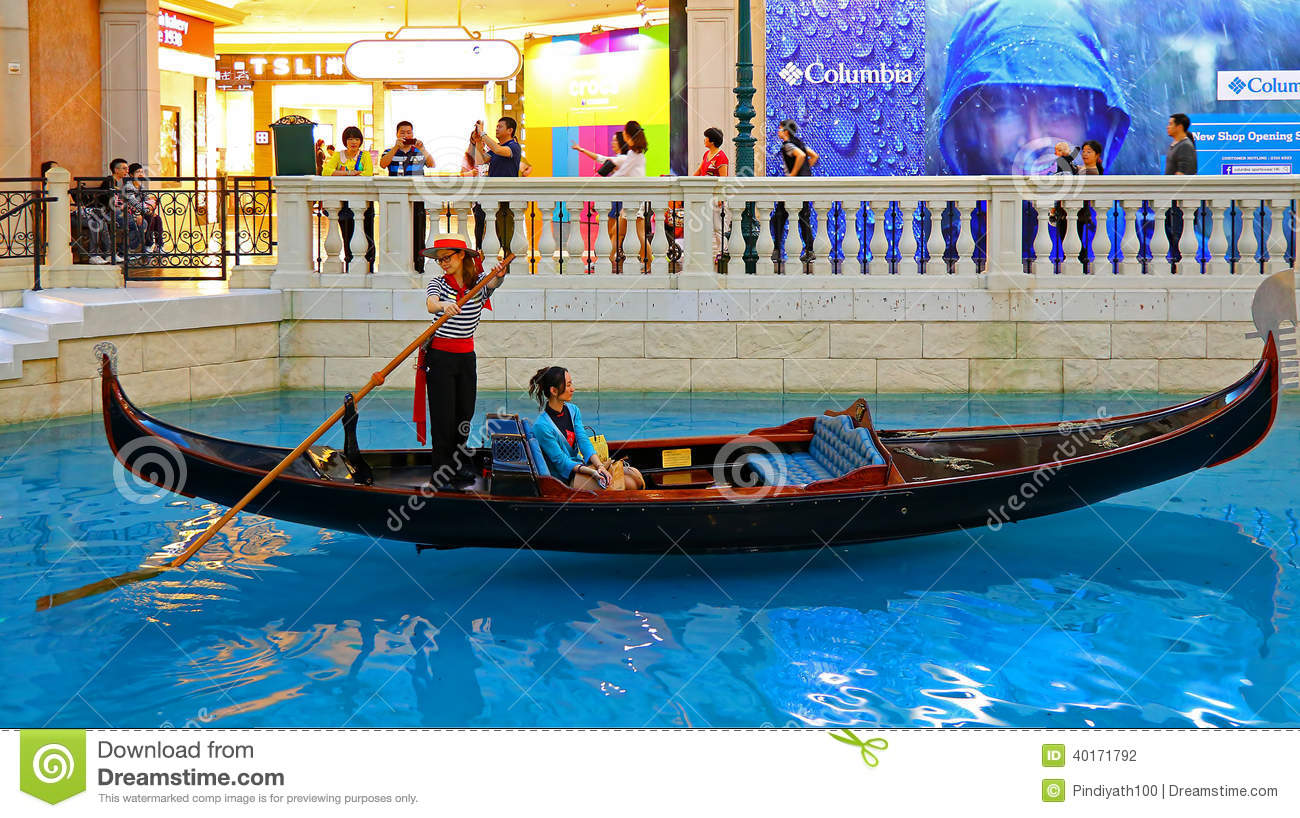 The Venetian Macau - Gondola Ride Editorial Photography - Image: 40171792