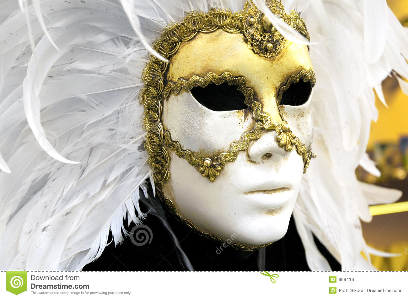 Download Venetian mask stock photo. Image of feathers, feather, carnival - 696416
