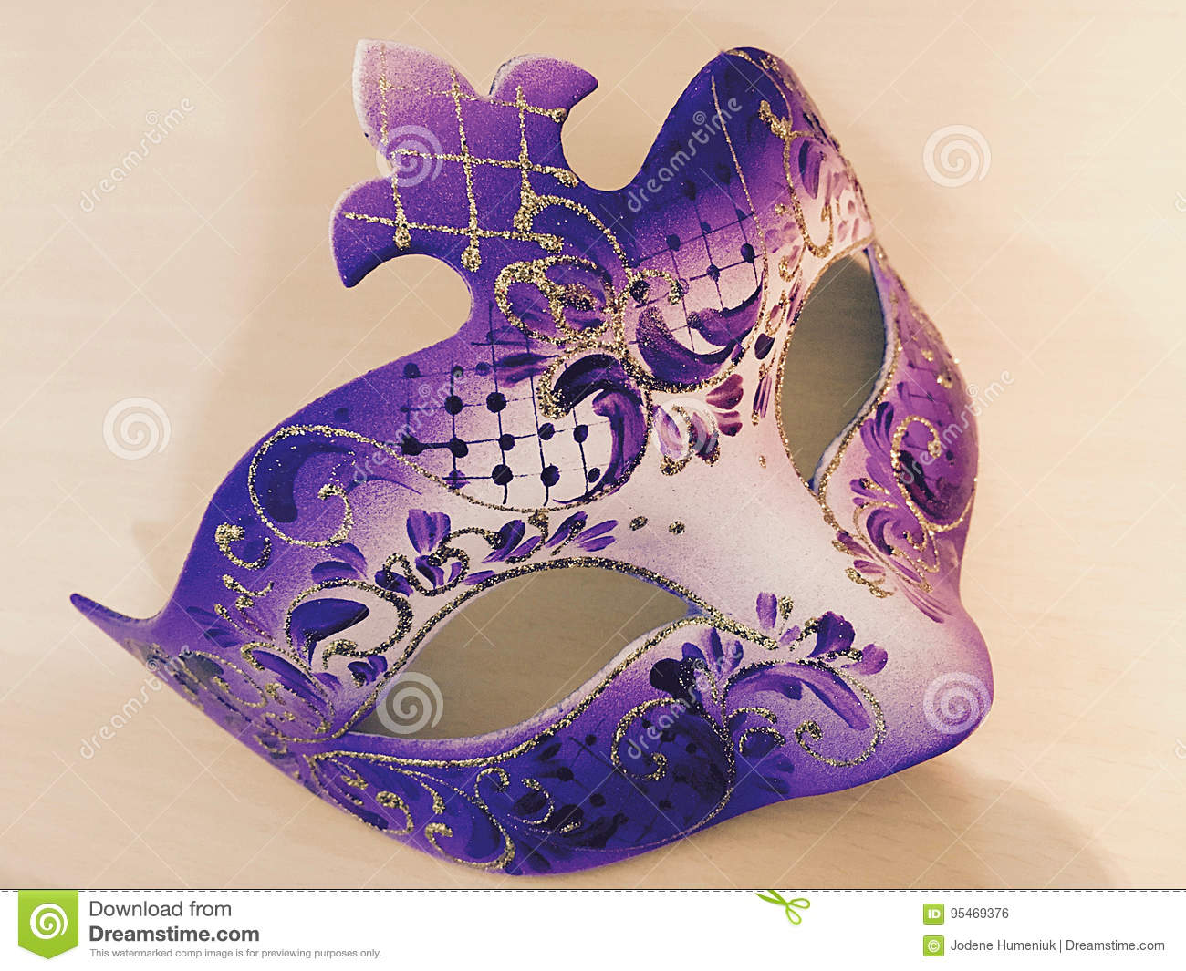 f51112fa54b3 Purple Masquerade Mask from Venice, Italy. Photo Taken On: February 08th,  2017. More similar stock images