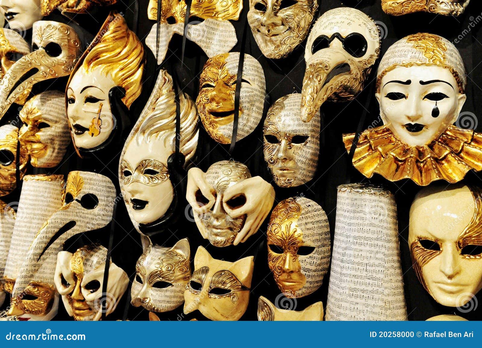 Venetian masks in venice italy stock photo image 20258000 - Mascaras de carnaval de venecia ...