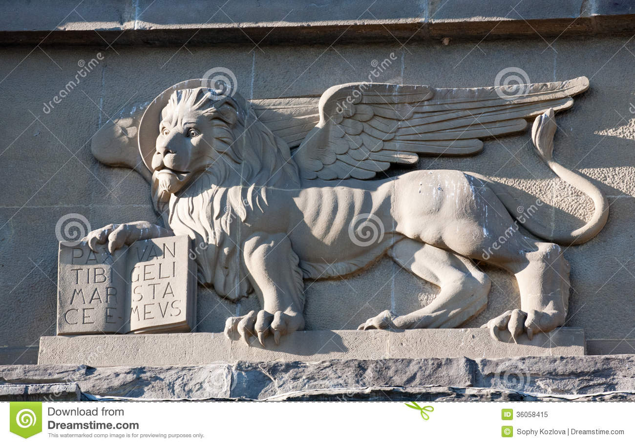 Venetian Winged Lion Bas Relief Royalty Free Stock Photo