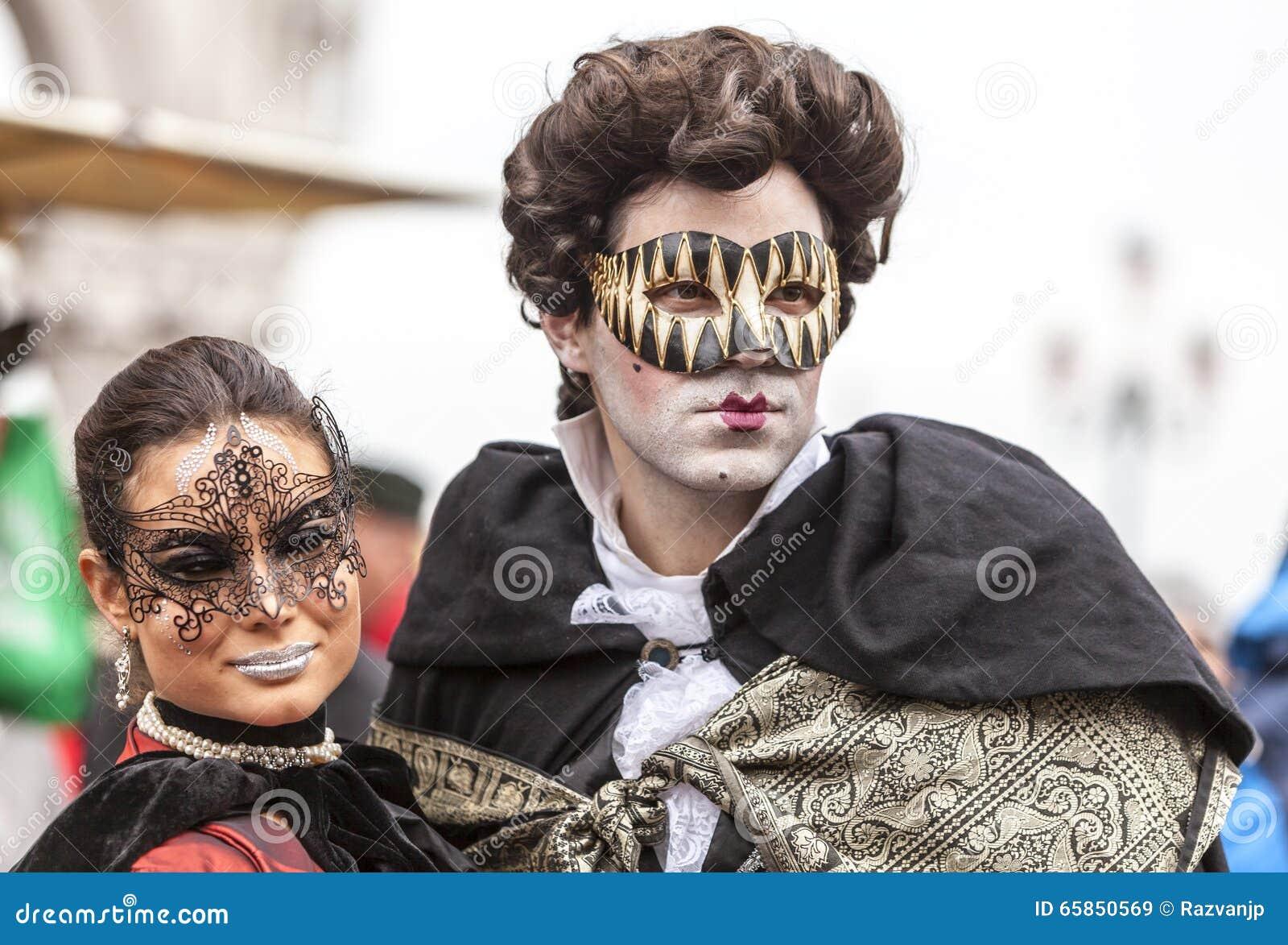 Venetianische Paare - Venedig-Karneval 2014