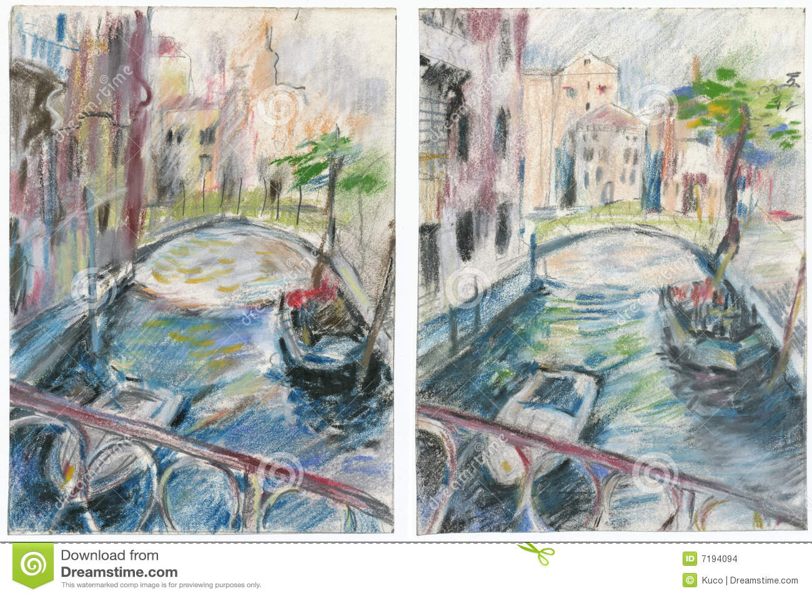Veneza, desenhando