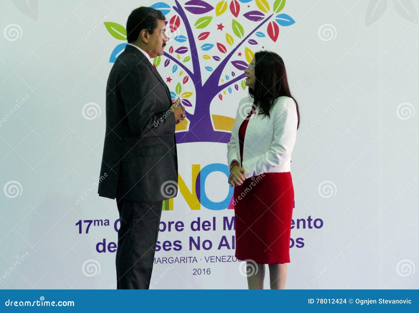 Venezolaanse President Nicolas Maduro en presidentsvrouw Cilia Flores