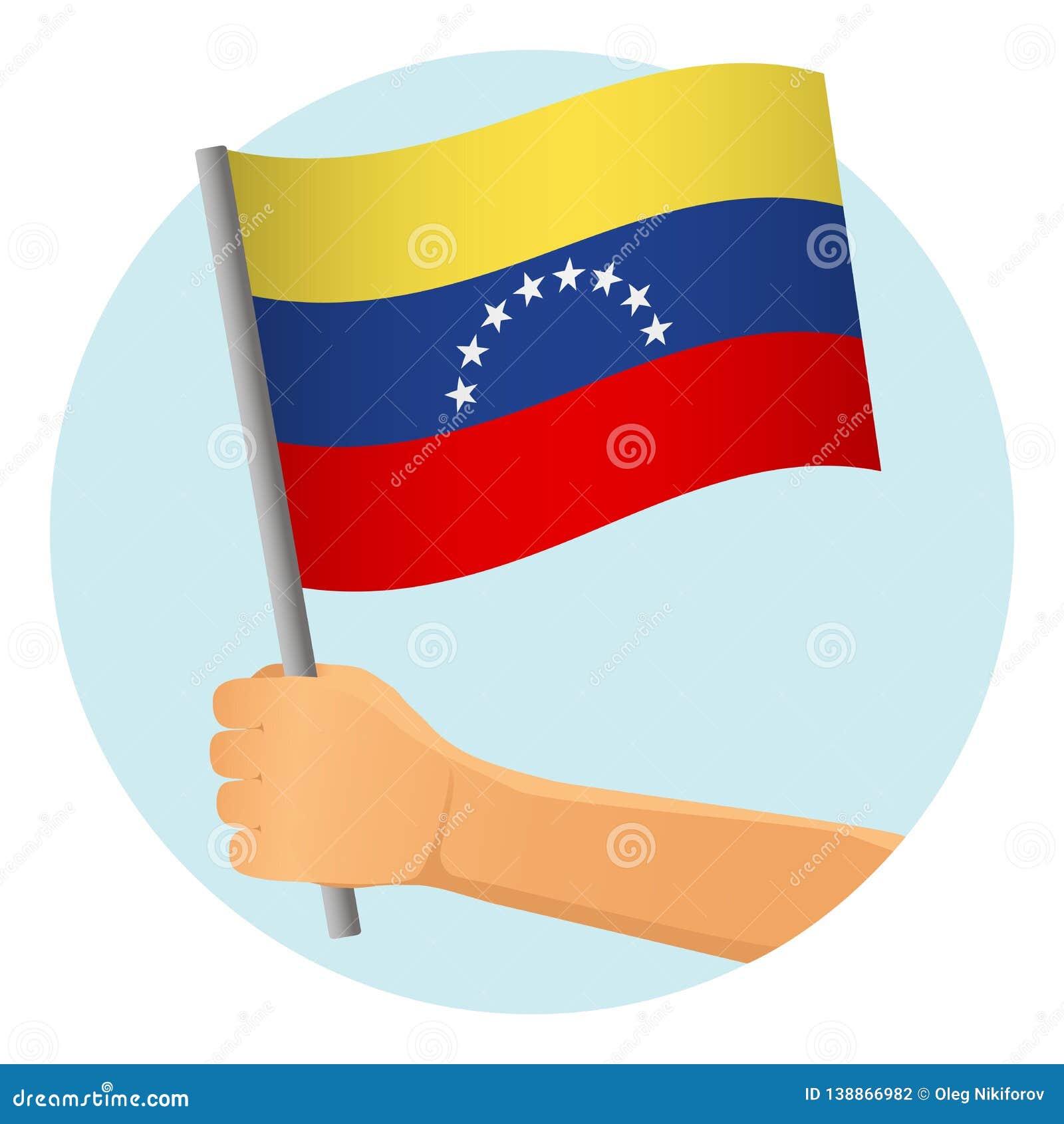 Venezuela flag in hand