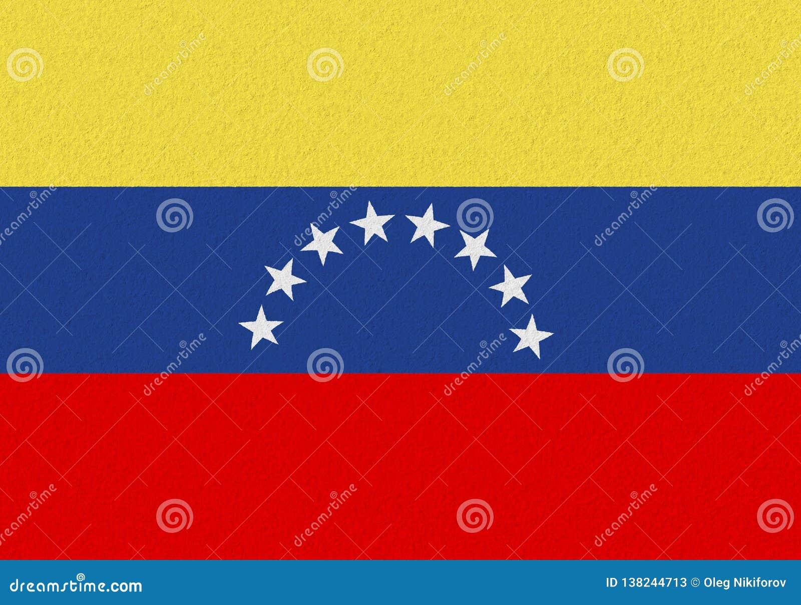 Venezuela paper flag