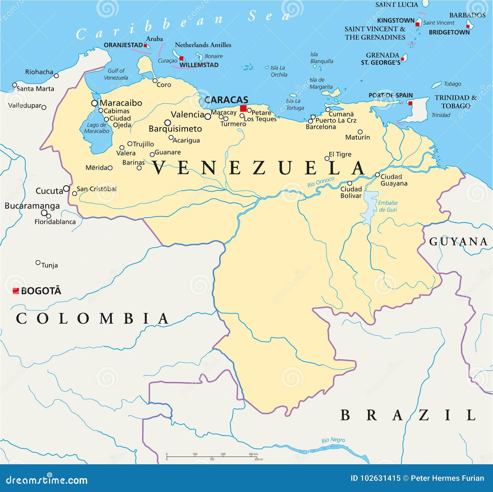 Political map of brazil royalty automotive electrical circuits venezuela political map stock vector illustration of guayana venezuela political map venezuela political map capital caracas gumiabroncs Image collections