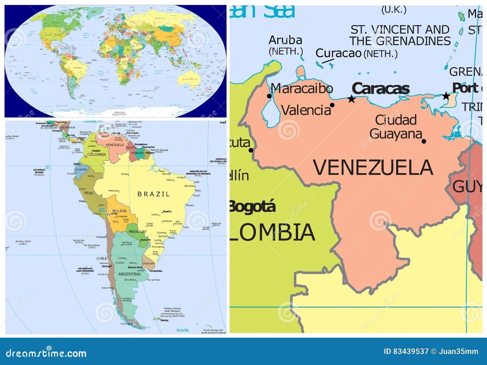 Venezuela U Welt Stock Abbildung Illustration Von Botswana