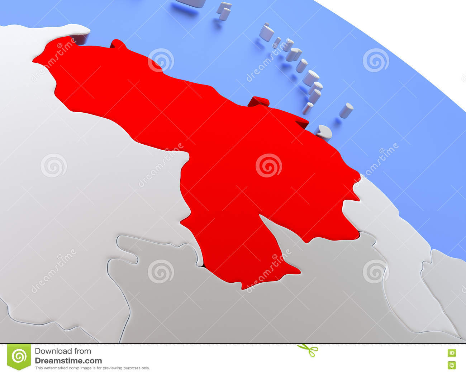 Venezuela on world map stock illustration. Illustration of ...